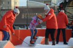 2.5 thousand people rode on the platform for the snowboard on the Ynost square